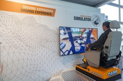 Case auf der Intermat 2018 : Ausstellungen, Simulationen und akrobatische Vorführungen