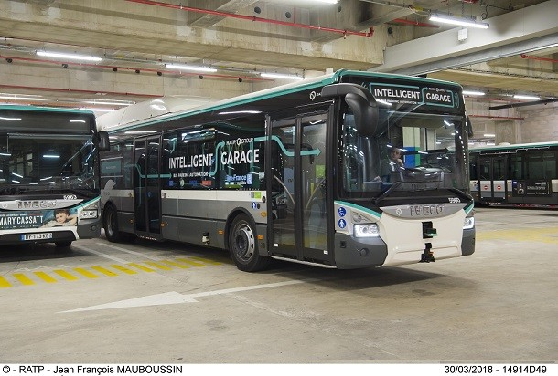 An autonomous bus that parks itself! Take a look.