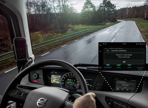 Volvo : als vrachtwagens en personenwagens communiceren