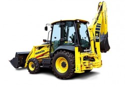 New Komatsu backhoe loader range : the first prototype unveiled