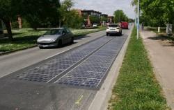 Une route solaire en Occitanie
