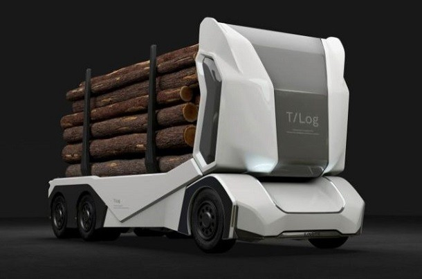 T-Log : il camion trasporto tronchi del futuro ?