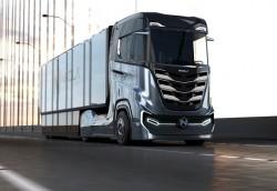 Der Nikola Tre, ein 100% autonomer Wasserstoff-Lkw für Europa entwickelt.