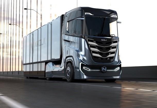 De Nikola Tre, een 100% autonome vrachtwagen op waterstof ontwikkeld voor Europa