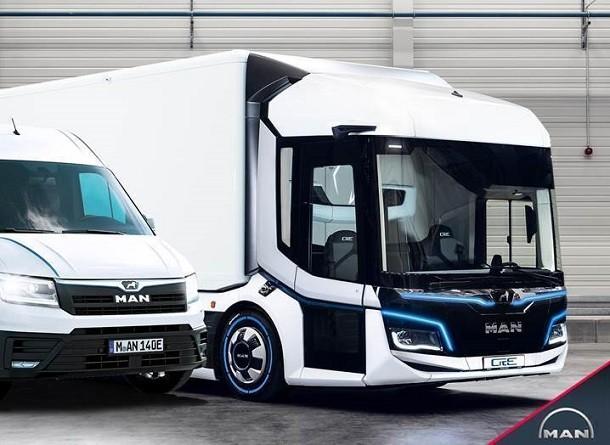 MAN lanceert een 100% elektrische bedrijfswagen en vrachtwagen