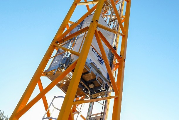 Cab-IN, an operator lift inside the Potain cranes