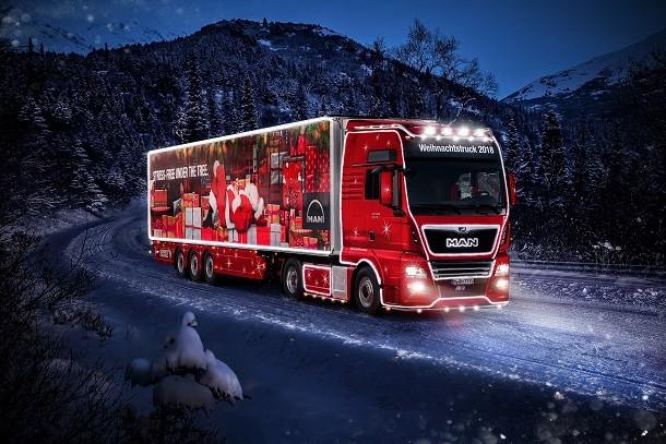 Un camion MAN pour le Père Noël!
