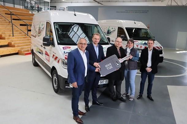 SNCF Réseau complète sa gamme électrique avec 2 utilitaires MAN