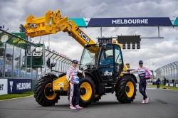 Carretillas JCB en los circuitos de Formula 1