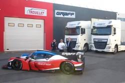 5 DAF XF für das Graff Racing-Team