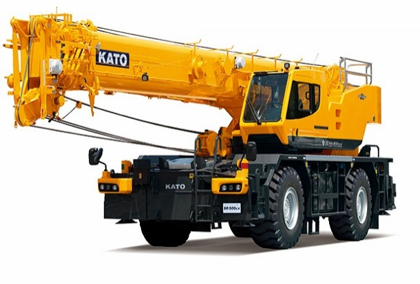 Kato presenteert zijn nieuwe ruw terrein kraan van 51 ton