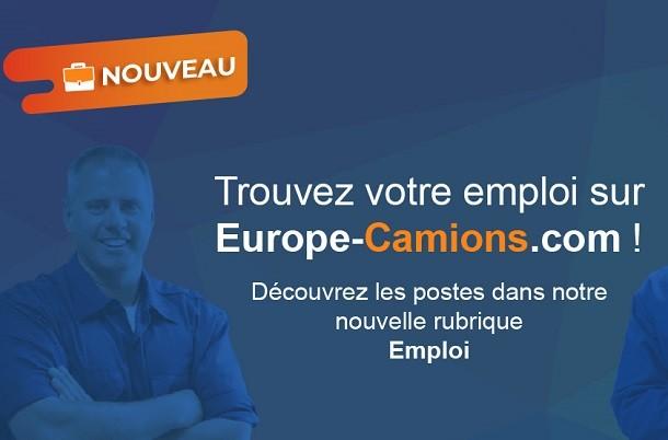Europe-Camions.com lance une rubrique Emploi pour les professionnels du transport