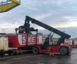 """Intermodale ferroviario, Smet lancia il primo servizio """"multistop"""" Nord-Sud per semirimorchi"""