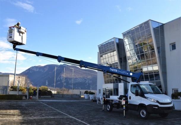La nuova piattaforma a braccio telescopico CTE