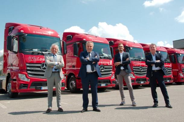 11 nuovi Actros entrano nel parco di 220 trattori della AF Logistics