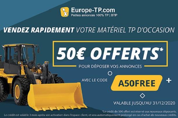 Vendez rapidement votre matériel TP avec le code A50FREE