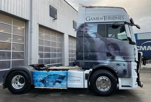 Un camion décoré MAN rend hommage à Game of Thrones