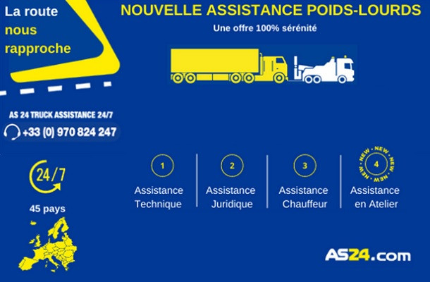Total et AS24 perfectionnent Truck Assistance