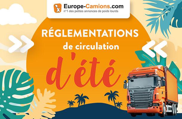 Jours fériés et week-ends d'été: quelles règles de circulation pour les poids lourds en juillet et en août 2021?