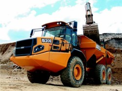 The Bell Equipment articulated dump trucks will be available in 2013