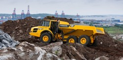 Volvo A25F and A30F articulated dump trucks: designed to go anywhere!