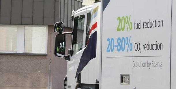 Les camions roulant aux biocarburants affichentune réduction significative des émissions de CO2.