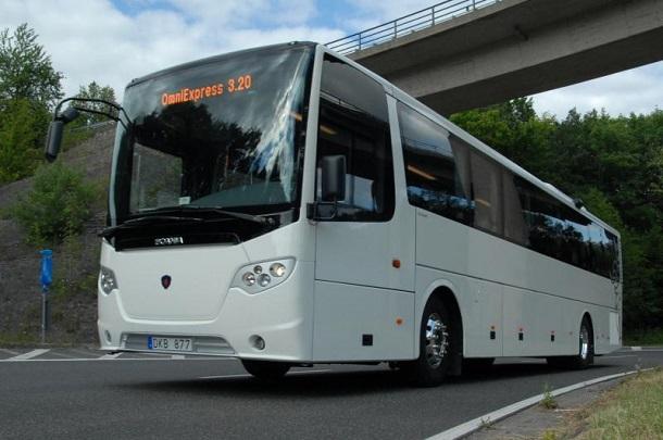 Le Scania OmniExpress 3.20 est le seulautocar au monde motorisé au gaz naturel.