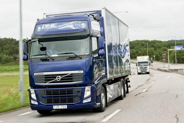 Un Volvo FH roulant au bio-DME en Suède.