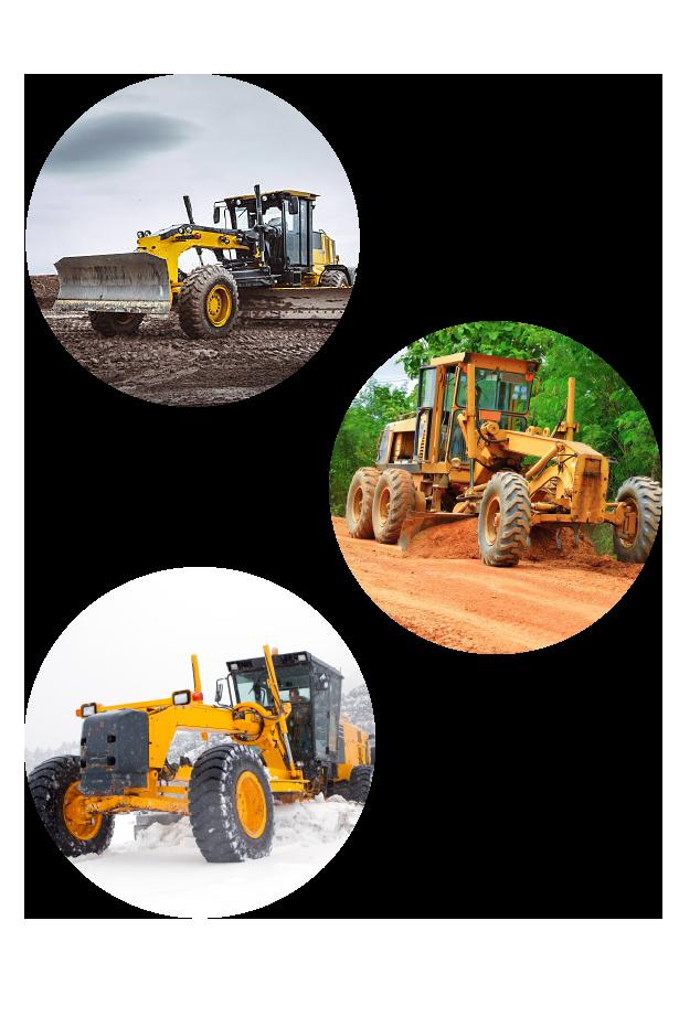 Niveleuse - Variété des travaux : terrassement, exploitation minière, aménagement paysager, construstion de route et agriculture