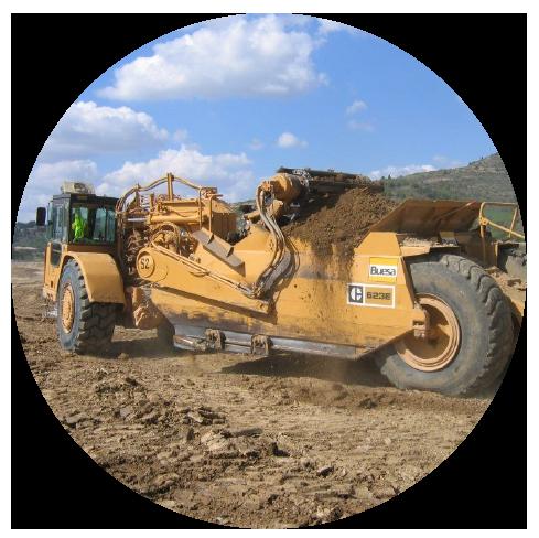 Scrapers / Décapeuses - travaux de chantiers, terrassements, mines et carrières