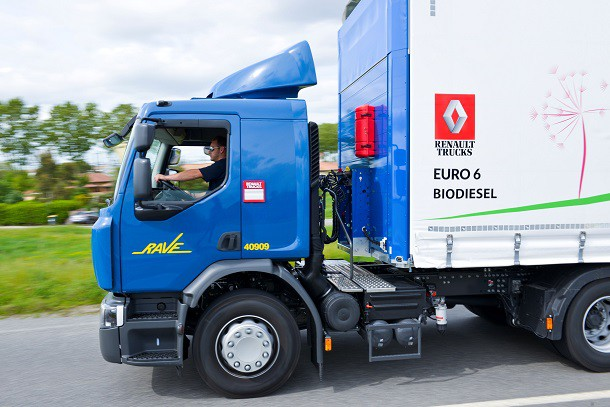 Le Renault Trucks D Euro 6 biodiesel.