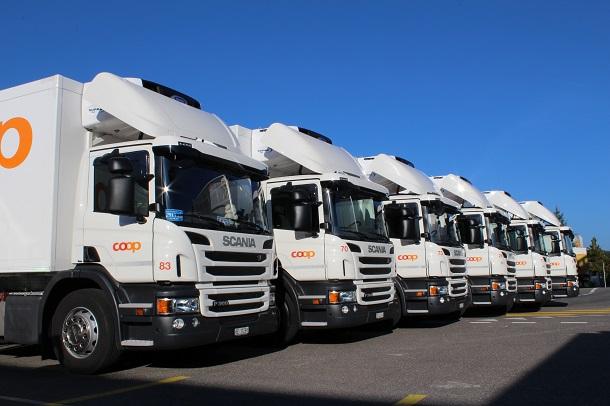 Coop a été le plus grand preneur de camionsScania Euro 6 biodiesel en 2014.