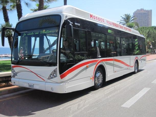 A Monaco, Scania a livré en 2011 huit autobushybrides électrique-biodiesel.