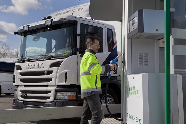 Scania est un pionnier des camions éthanol ED95.