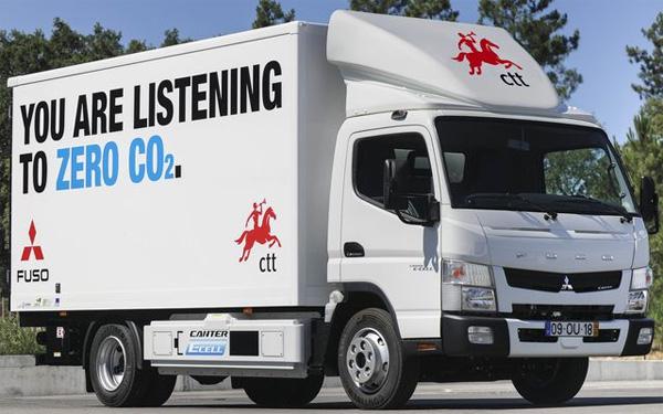 Le Fuso Canter E-Cell est exploité,entre autres, par la CTT au Portugal.