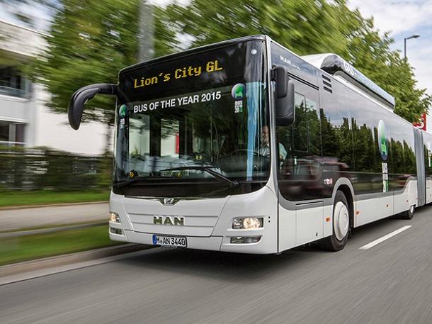 Le MAN Lion's City GL GNV a reçu le prixdu Bus de l'année 2015.