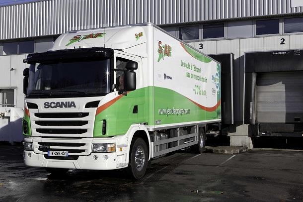 Les camions Scania roulant à l'ED95 ont étéexpérimentés en France avec la société STAF.
