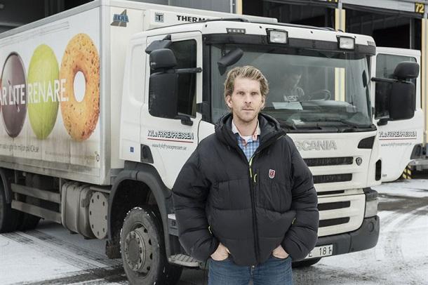 Robert Barkensjö, directeur général deKyl-och Frysexpressen, a utilisé des camionsScania ED95 pour le projet Clean Truck.