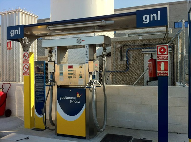Une station GNL en Espagne.