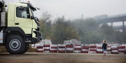 Volvo Trucks führt einen noch nie realisierten Test durch.