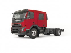 The new Euro 6 Volvo FL and FMX equipped with a crew cab